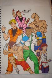 Fighting game characters by DrakeStirLawl