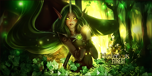 Mysterious Forest [signature] by misyzherself