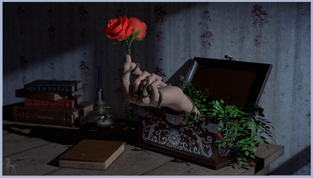 The hand and the rose by JoshuaSander