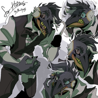 Comm Doodle for H1D1NG by Bloodpus