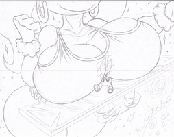 Giant Tiny Kong Breast Crush Smash Attack Sketch 8 by Virus-20
