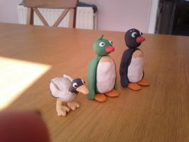 The Seagull, Pingu's Green Friend and Pingi by Louisetheanimator