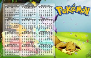Calendar 2013 - Eevee Party by Exhaltorio