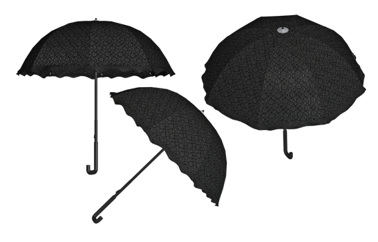Steampunk/Gothic Umbrella PNG Stock by Roy3D