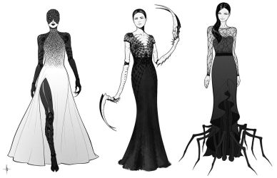 Spider Dresses by AdrianDadich