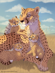 Serengeti Snuggles by TheVerdantHare