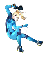 Zero Suit Samus by Southpawed-Skypirate