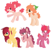 Applejack x Mane 6 ship adopts OTA by GalaRose12