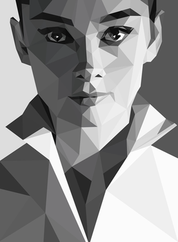 Audrey Hepburn Triangular by krejzifrik