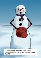 Embarrassed Snowman by rcdg