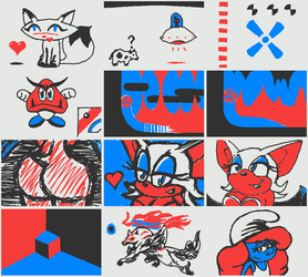 3DS Notes Doodles Aug 2017 by RatFromRule34