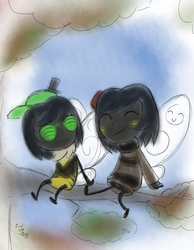 BEEs on a branch by Blizzfan98