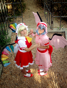 Flandre and Remilia: Immoral Sisters by SweetCandyCupkake