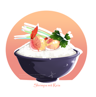 Logo: Shrimps with rice by Wilvarin-Liadon