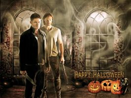 Happy Supernatural Halloween 2014 by Nadin7Angel