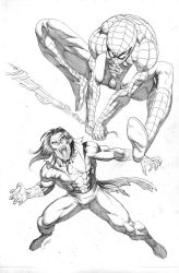 Spiderman vs Morbius 2013 commission by RubusTheBarbarian