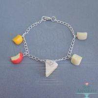 Cheese Charm Bracelet by PepperTreeArt