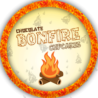 Swingin Chocolate Bonfire Cupcakes by Echilon