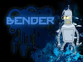 Bender - Wallpaper by maatirunaway