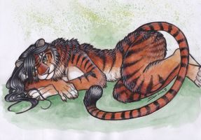 Come Back to Bed - Tiger by shiverz
