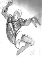 Spidey sketch by fabiocralves