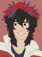 Flower crown Keith by NiftyNightOwl