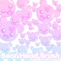 Bear Head Brushes by xlilbabydragonx