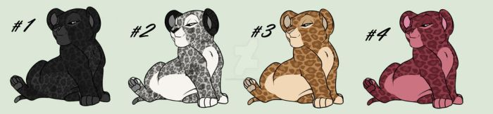 Leopard cubs Adoption by QueenoftheLions15