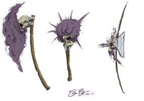 Skull tribe weapons by Barquiel