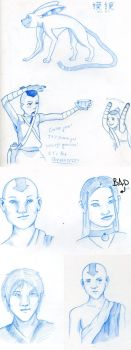 Avatar doodles by psychepirate