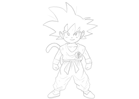 Kid Goku by Yoyodan