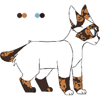 brightpaw reference // lineart by alaskii by swanstep