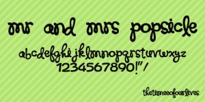 Mr and Mrs Popsicle font. by TheTimeeOfOurLives