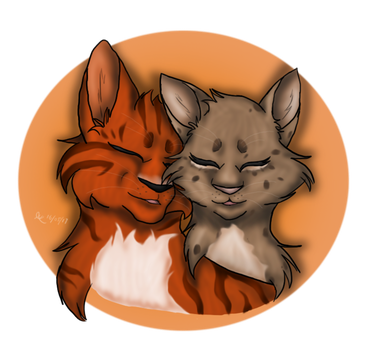 Scorchblaze and Frecklepelt by Sinbadghost