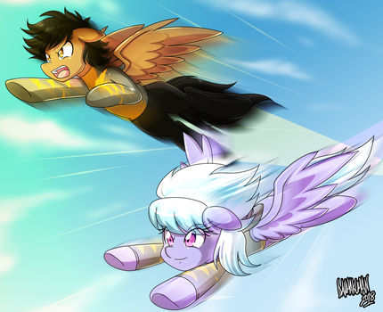 Commission: Flying High! by DANMAKUMAN