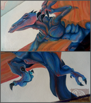 Blue Wyvern Closeups by BlackPantiesaurus