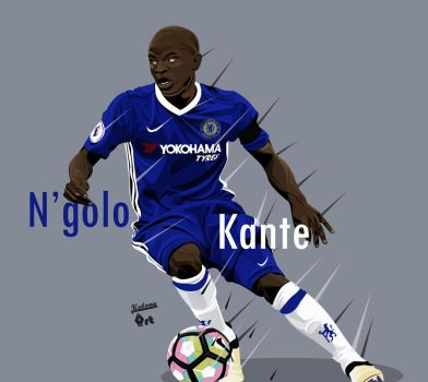 N'golo Kante by kalongart