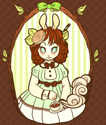 .Mint Bunny. by poofylion