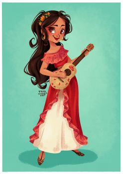 Princess Elena of Avalor by FrogMakesArt