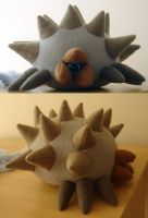 Lavos plushie by Eyes5