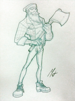 Woodsman - First Sketch by SaTTaR