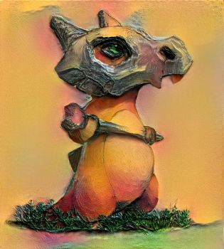 Textured Cubone Pokemon by toxicsquall