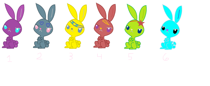 Little Bunny Adoptables ~ 6 for Sale! by SnowingInTheWinter