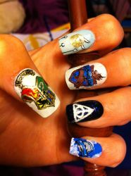 Harry Potter Nails On Geek Nails Deviantart