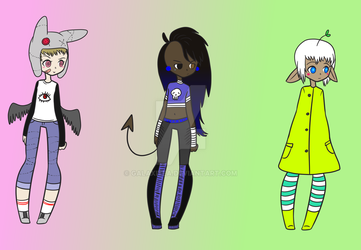 $3 Humanoid Adoptables! (2/3 OPEN) by galaxitea