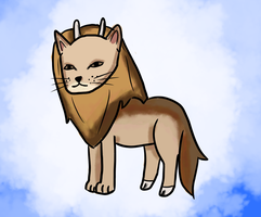 Lion Goat Coyote by AnimaloverXD