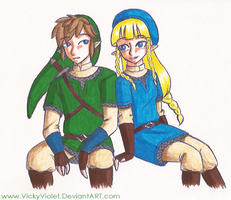 SSS: Link and Zelda by VickyViolet
