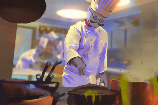 195/365 The old chef by snatti89