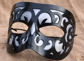 Swirl Pane Leather Mask by Lady-Cass