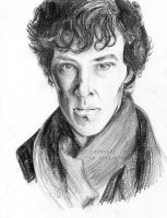 Benedict Cumberbatch as Sherlock Holmes. by BowieKelly